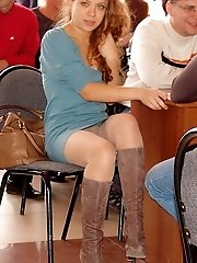 12 pictures - Pretty upskirts of such merry girls in voyeur upskirt free photo gallery from UpskirtCollection.com
