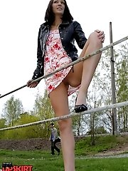 12 pictures - Hot chick's outdoor upskirt