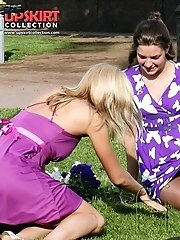 12 pictures - Upskirt babes looking into the cam in voyeur upskirt free photo gallery from UpskirtCollection.com