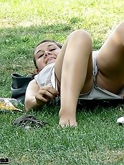 12 pictures - She welcomes you to see her upskirt in voyeur upskirt free photo gallery from UpskirtCollection.com